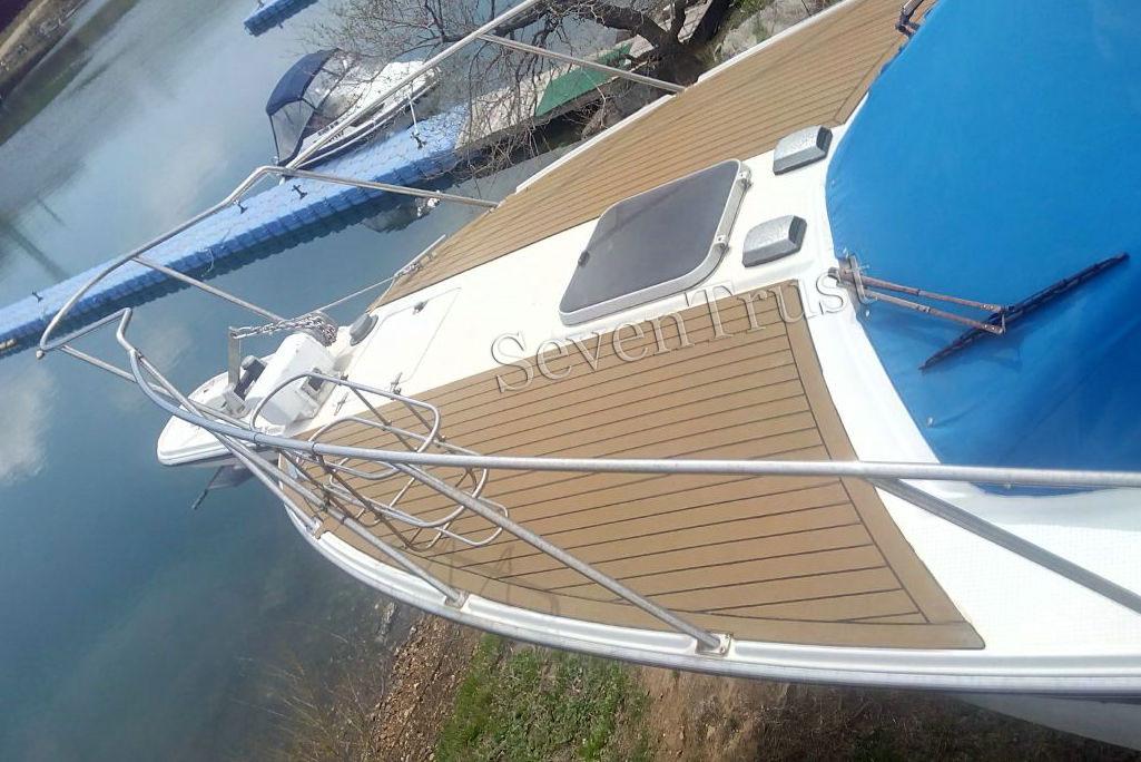 pvc synthetic teak boat decking