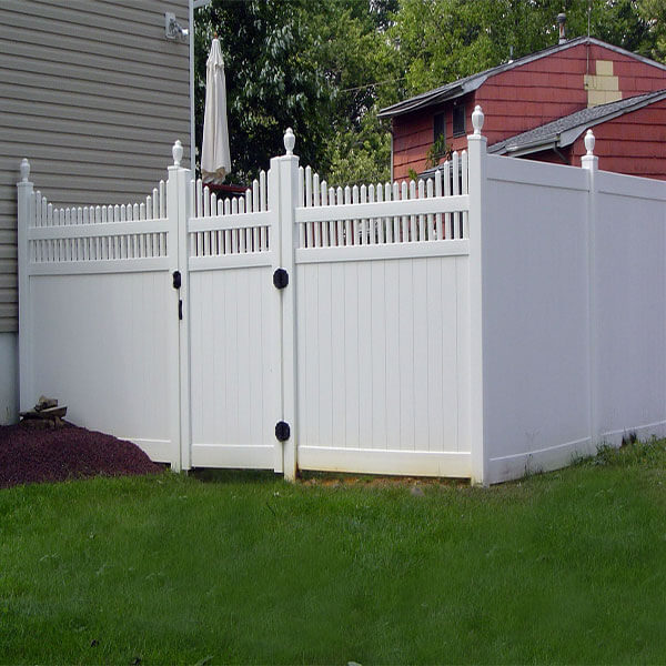 PVC Privacy Fence With Open Picket